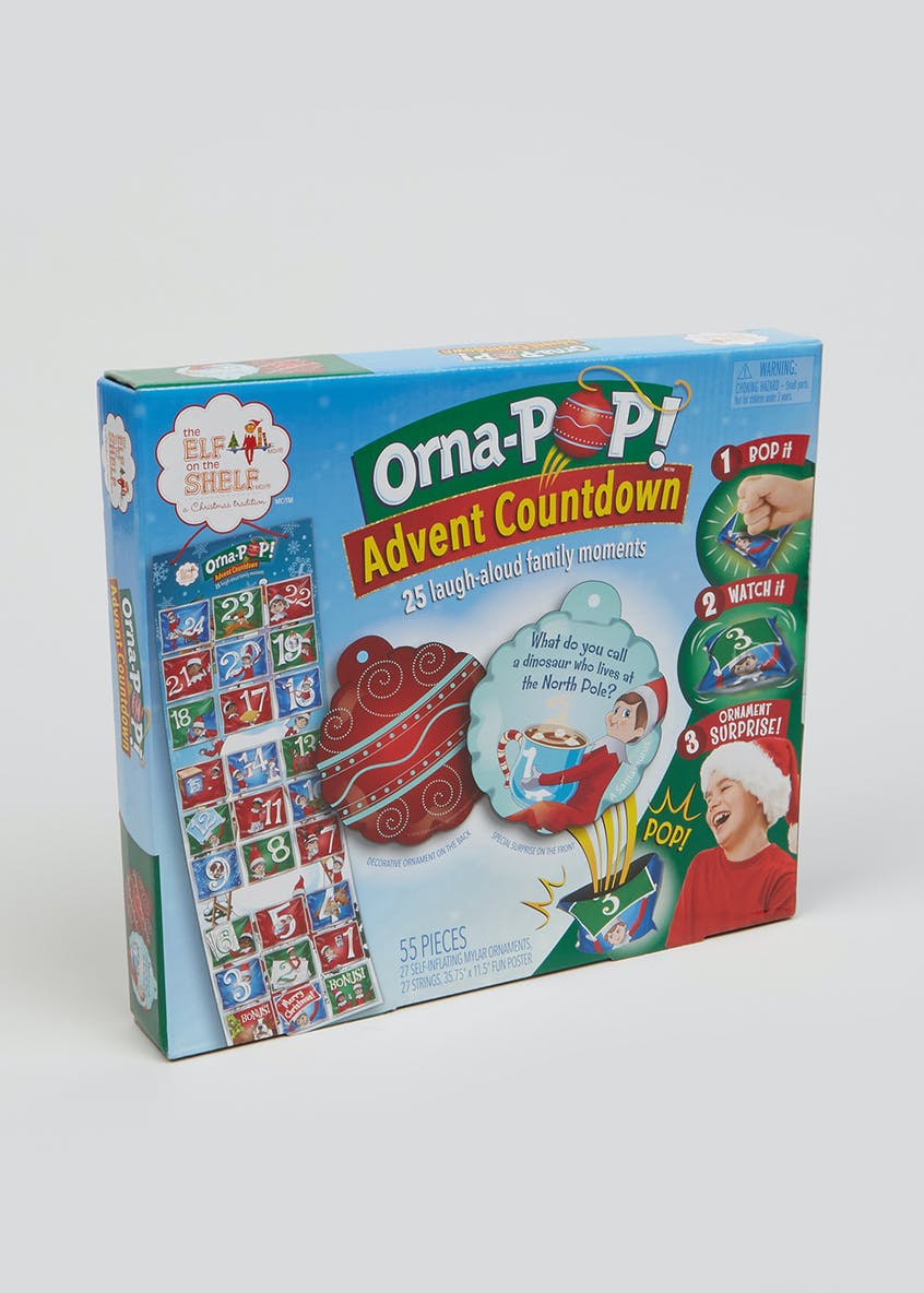 Orna-Pop Advent Countdown Calendar (30.5cm x 27cm x 4.5cm)