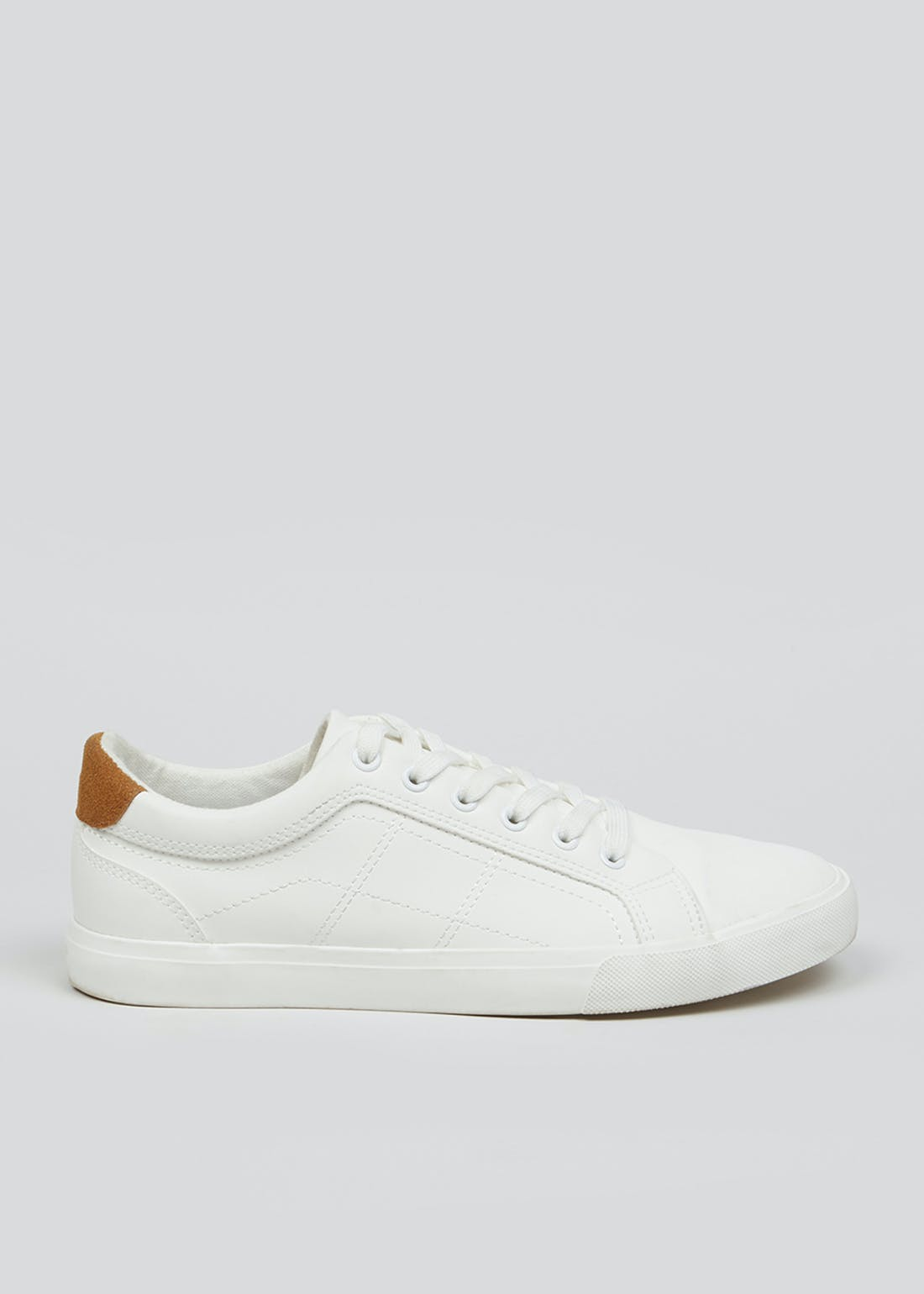 White Lace Up Fashion Trainers