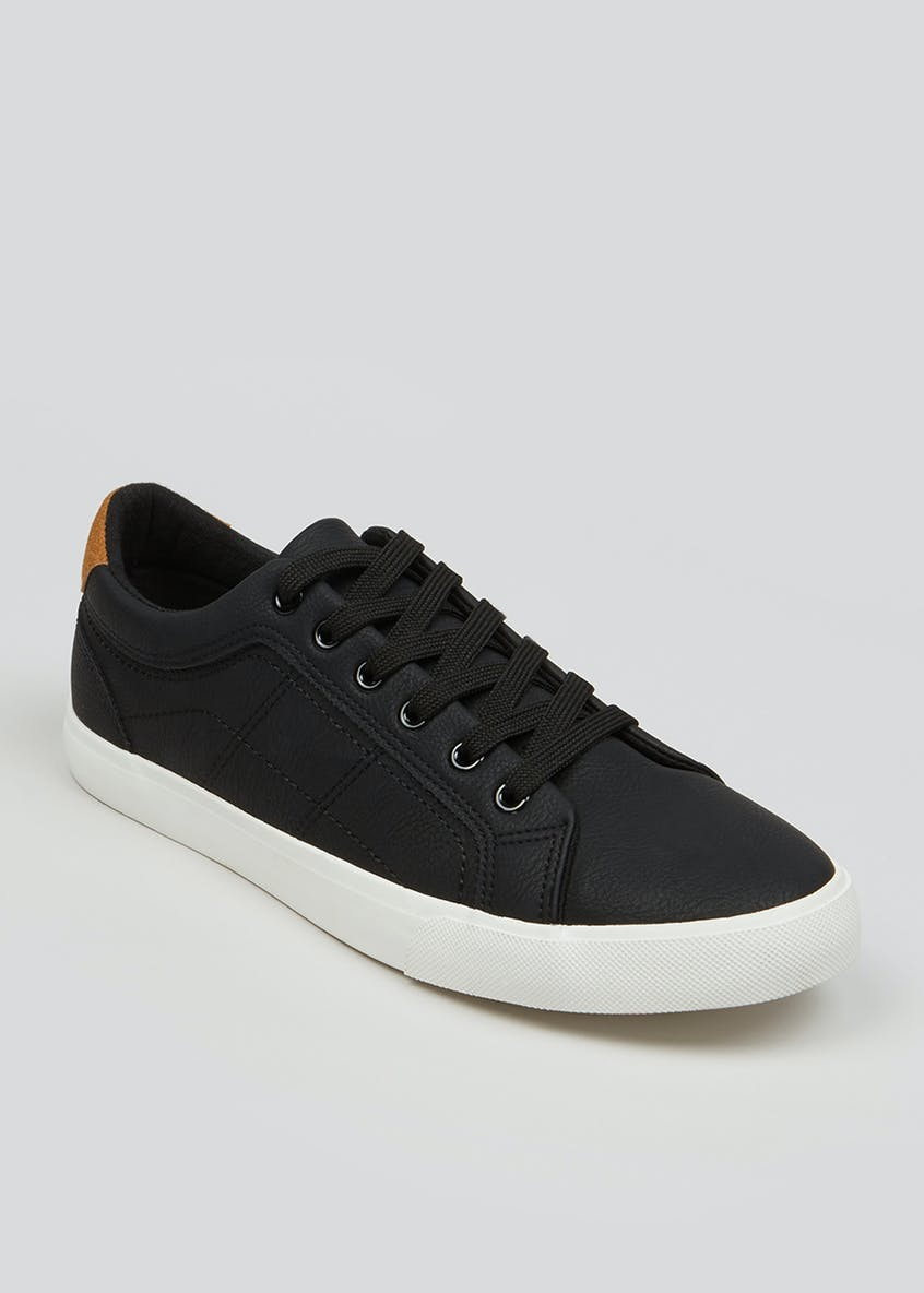Black Lace Up Fashion Trainers