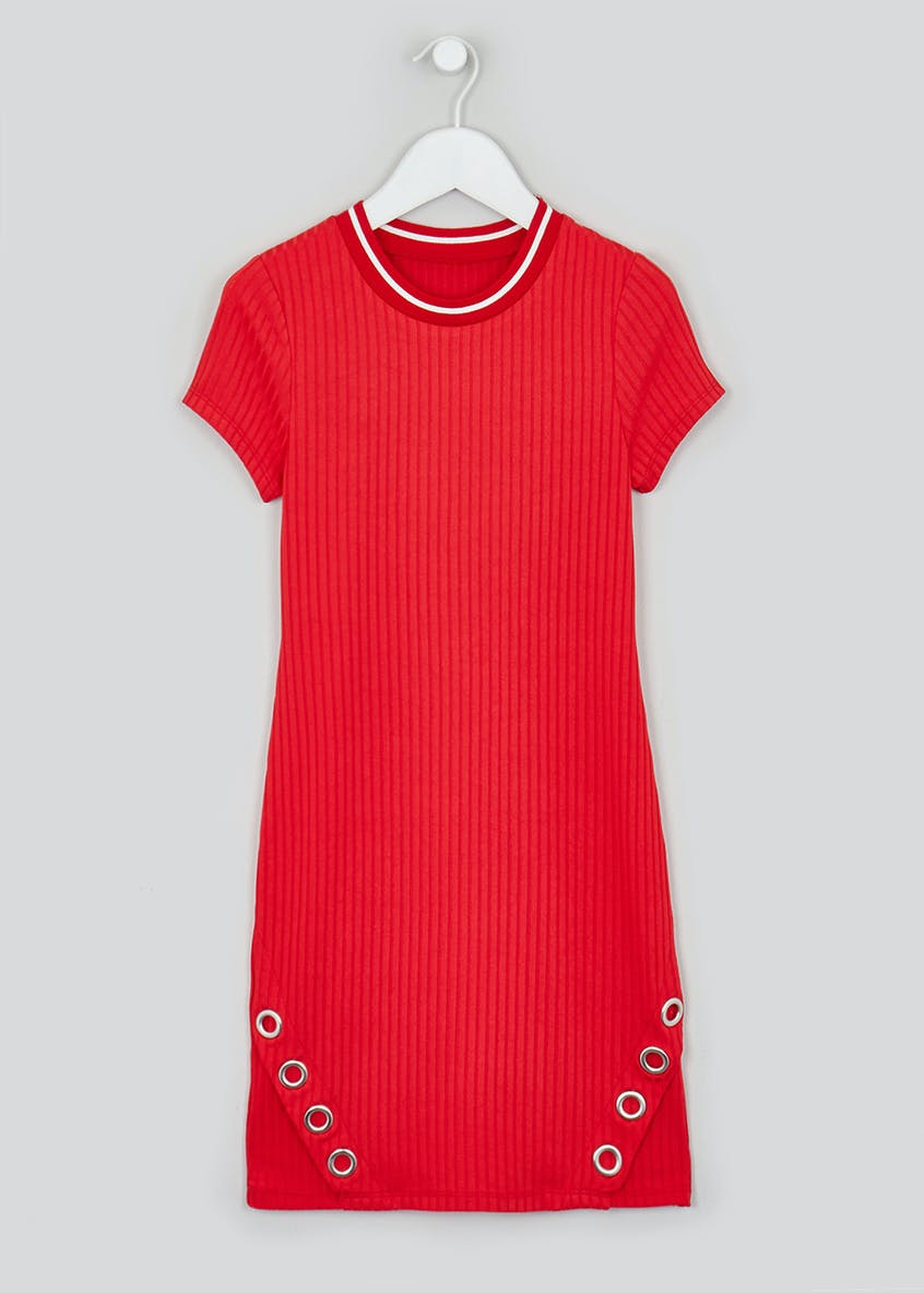 Girls Candy Couture Red Short Sleeve Dress (9-16yrs)