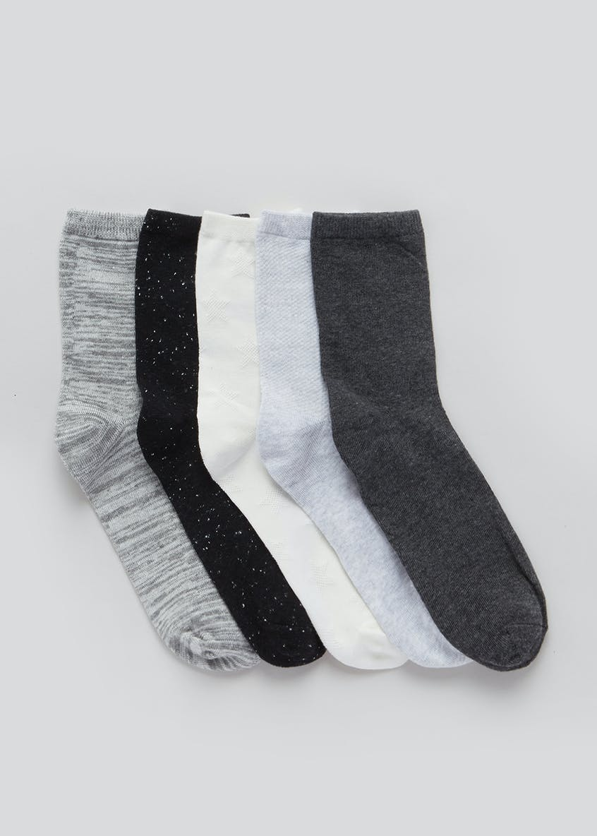 5 Pack Classic Coloured Socks
