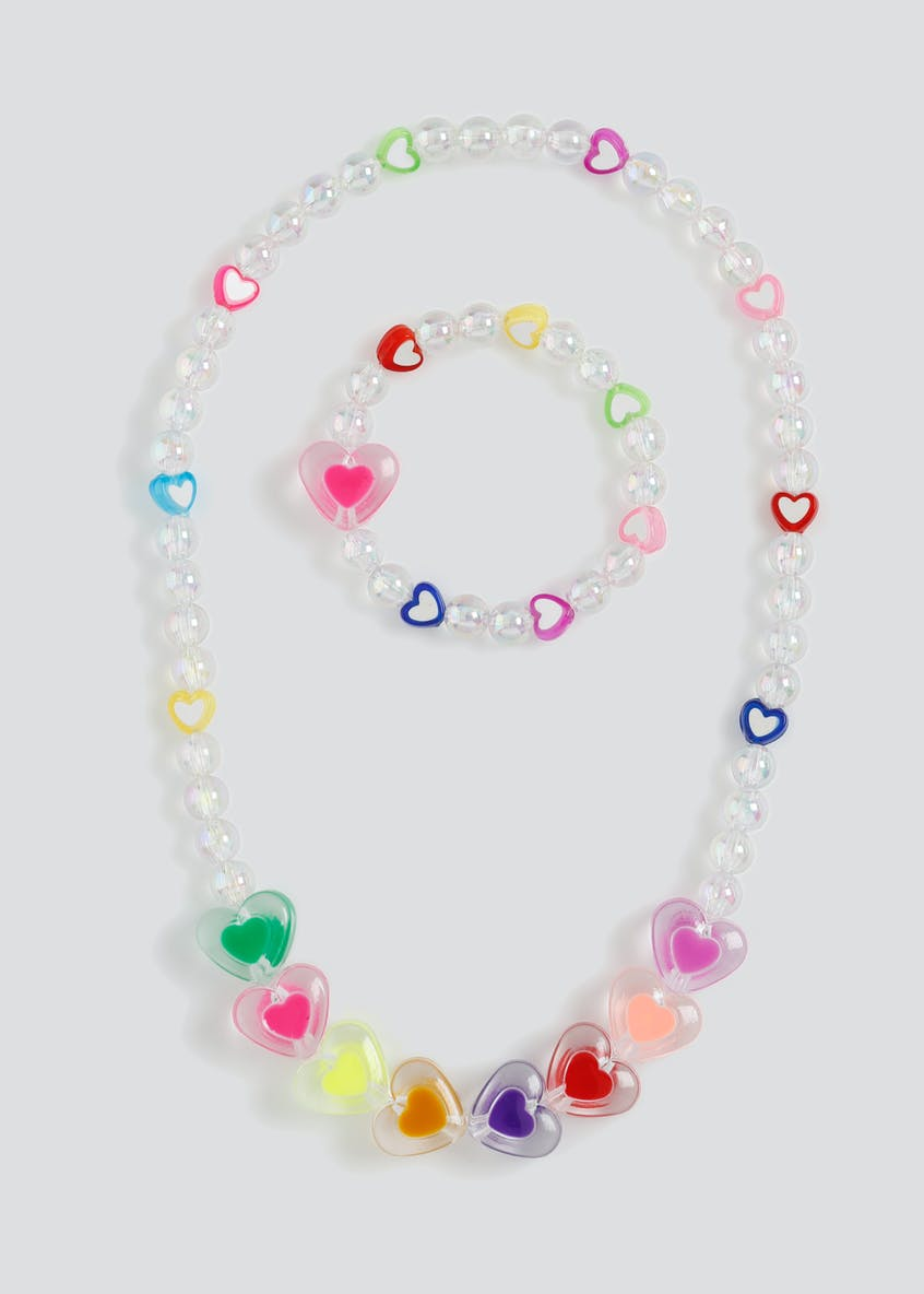 Girls Heart Necklace and Wristwear