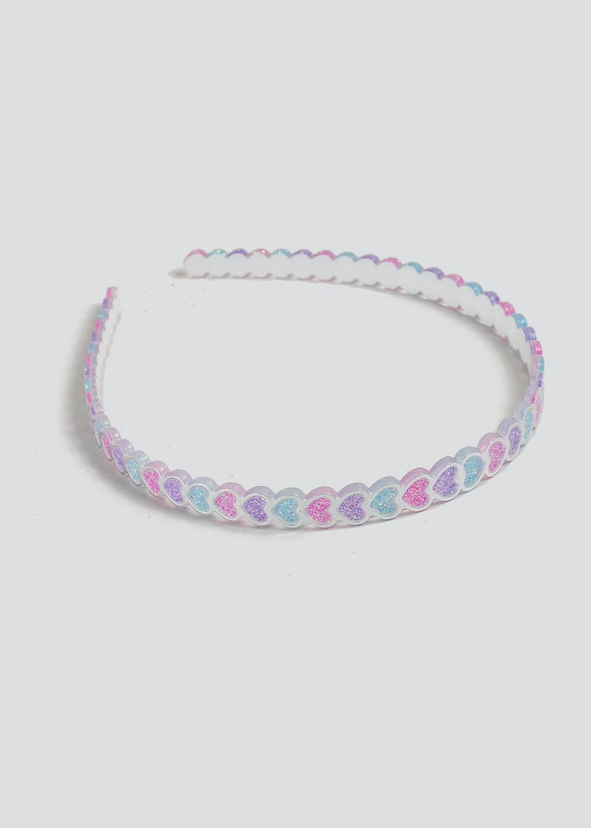 Girls Pastel Heart Aliceband