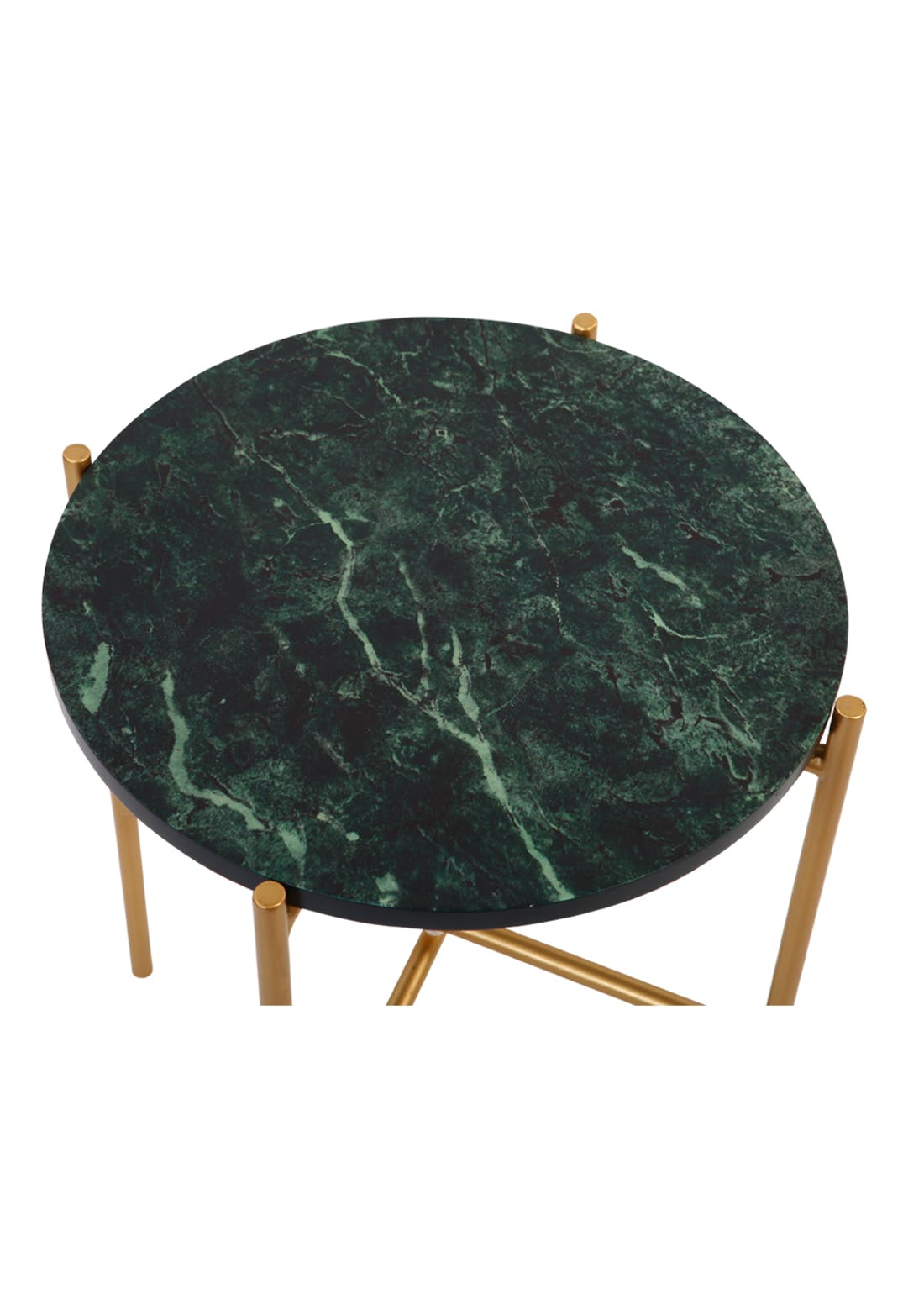 Marble Top Side Table (H45cm x W40cm)