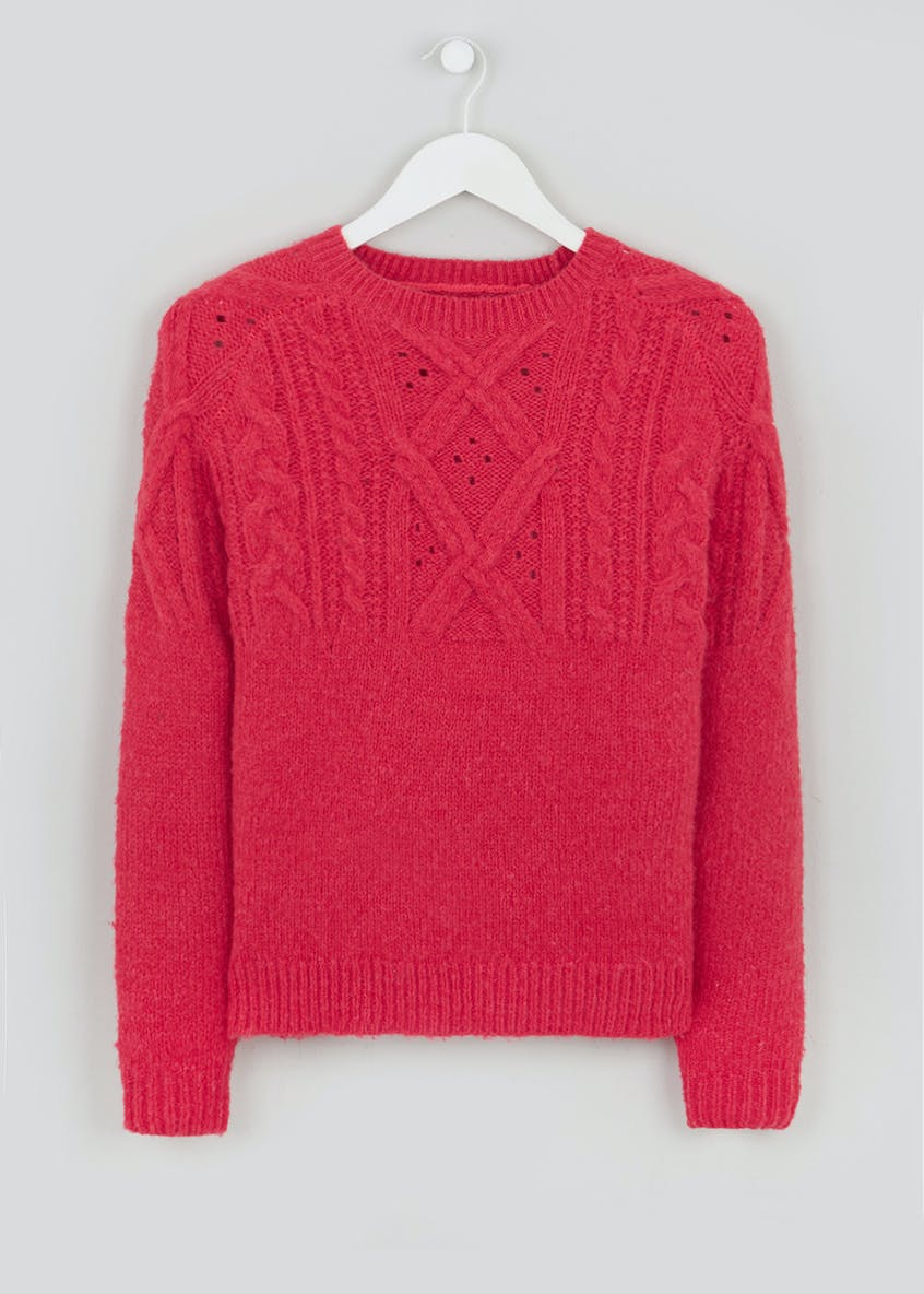 Crew Neck Cable Jumper