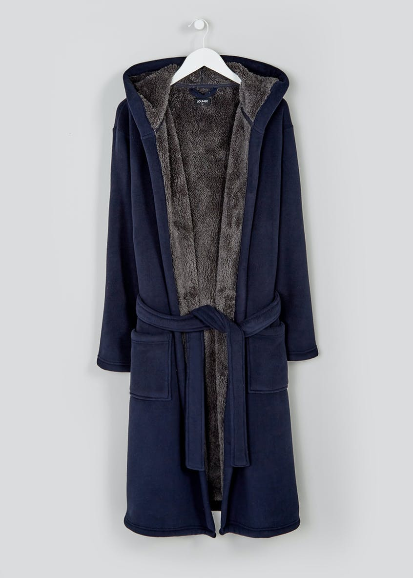 Teddy Lined Fleece Dressing Gown