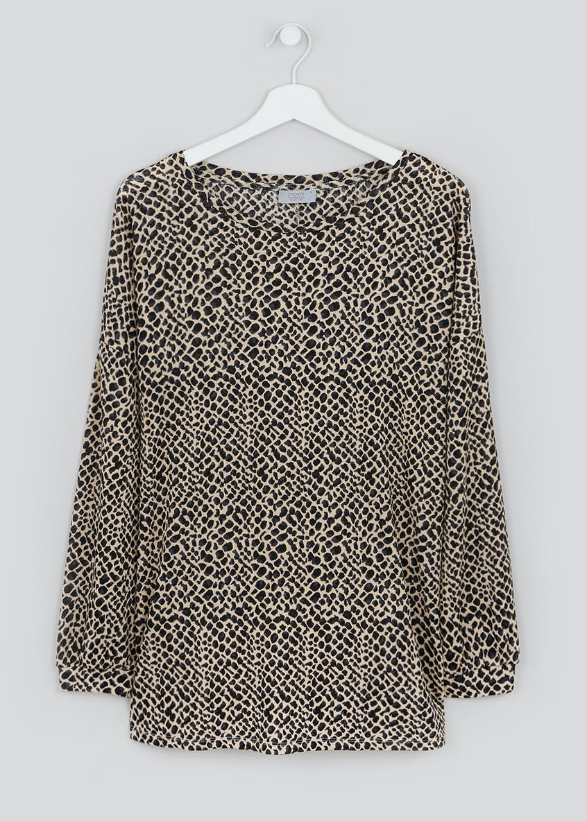 Papaya Curve Animal Print Top