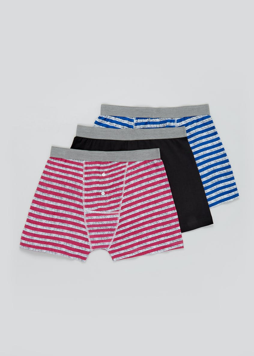 3 Pack Cotton Stretch Boxers