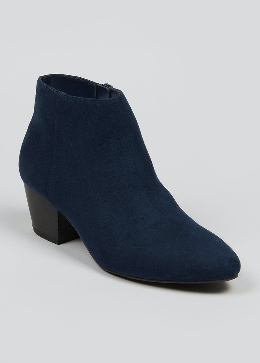 Zip Pointed Ankle Boots