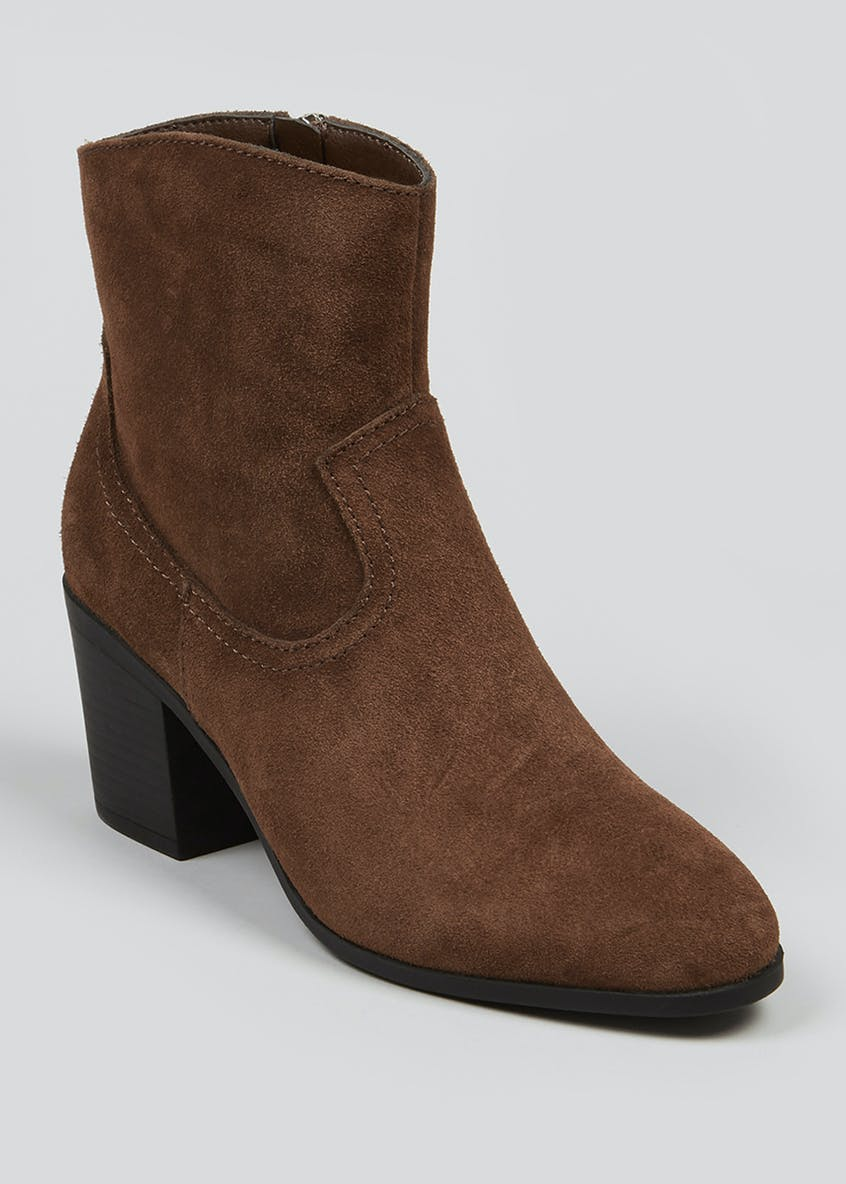 Soleflex Real Suede Western Heeled Boots