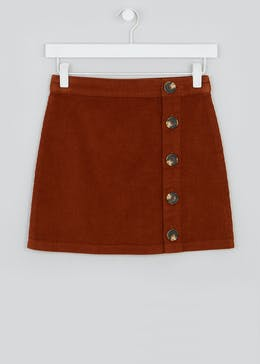 Girls Candy Couture Cord Button Through Skirt (9-16yrs)