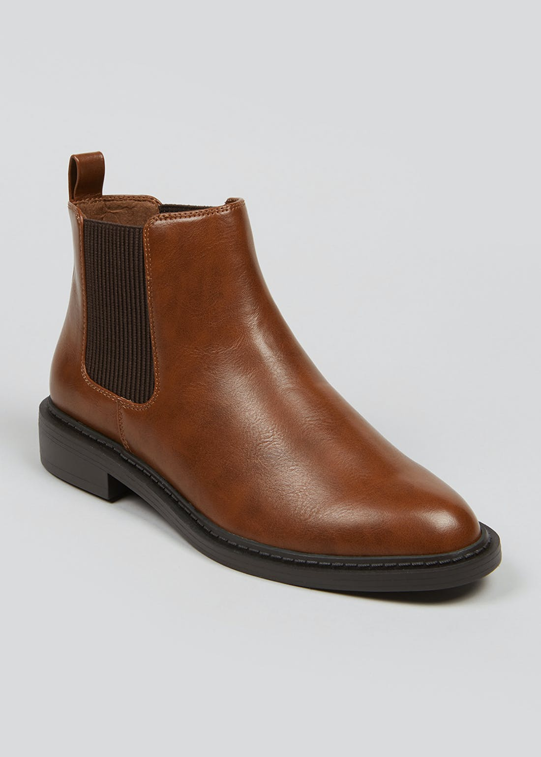 Wide Fit Tan Chelsea Boots
