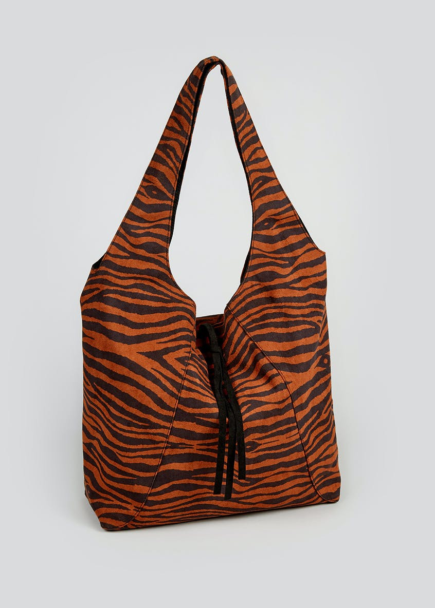 Tiger Slouch Shoulder Bag (45cm x 34cm x 13cm)