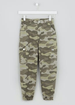 Girls Candy Couture Camo Cargo Trousers (9-16yrs)