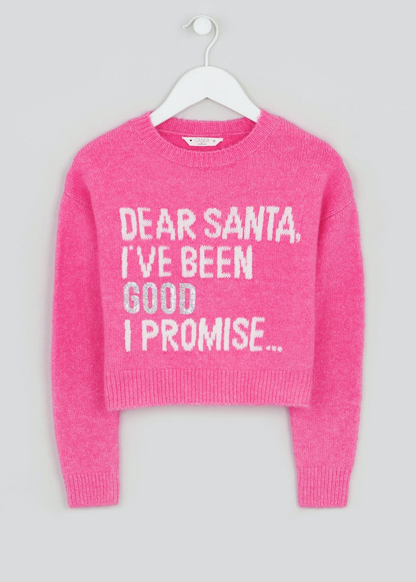 Girls Candy Couture Christmas Slogan Jumper (9-16yrs)