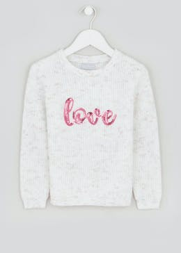 Girls Love Slogan Jumper (4-13yrs)