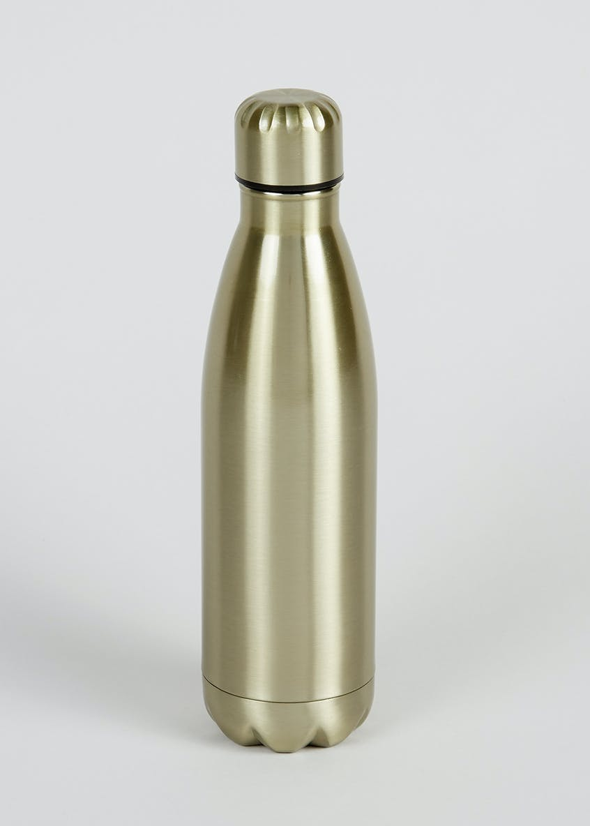 Metallic Screw Top Water Bottle (27cm x 7cm)