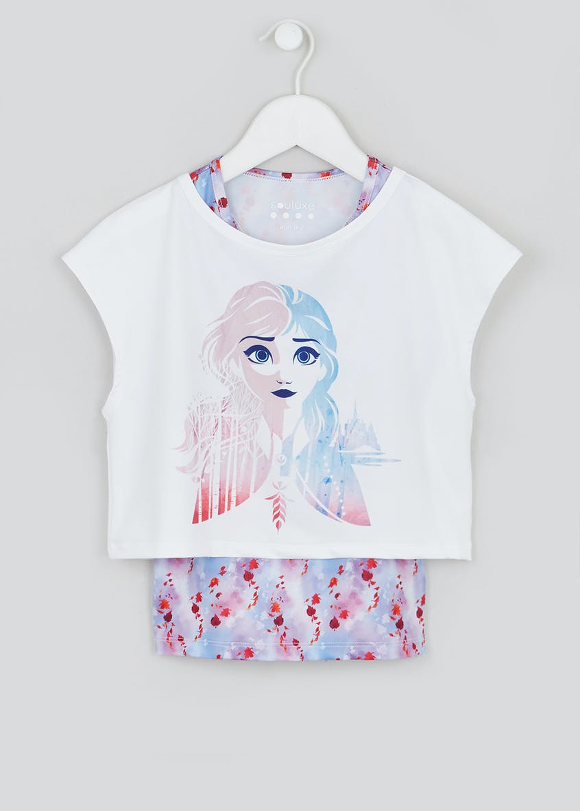 Girls Souluxe White Disney Frozen 2 Sports Top (2-11yrs)