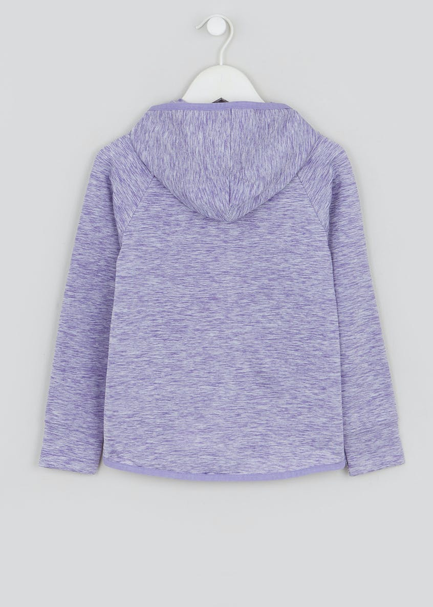 Girls Souluxe Purple Space Dye Sports Hoodie (2-11yrs)