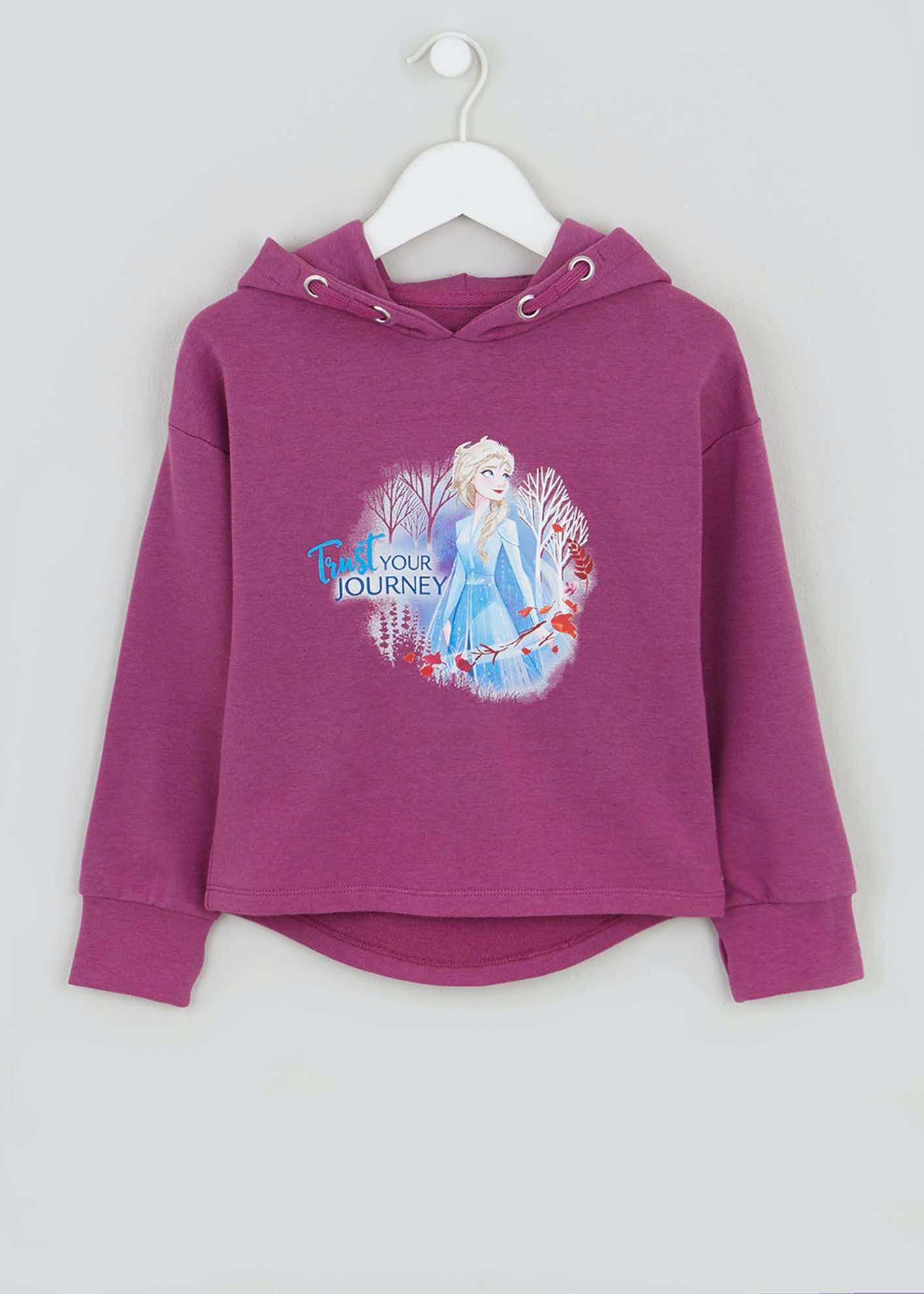 Girls Souluxe Pink Disney Frozen 2 Hoodie (2-11yrs)
