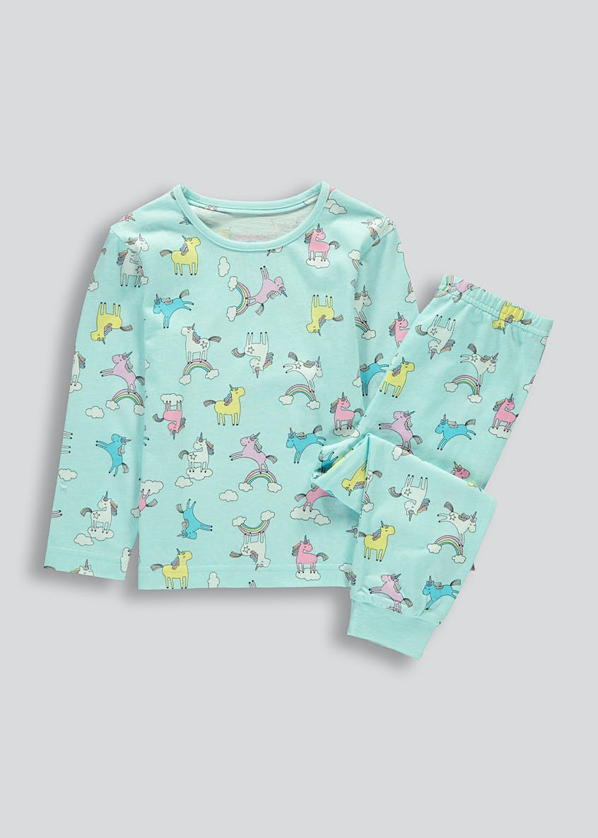 Kids Rainbow Unicorn Pyjama Set (9mths-5yrs)
