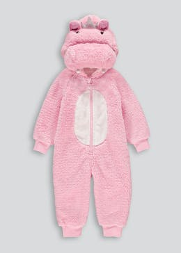 Girls Hippo Princess Onesie (12mths-5yrs)