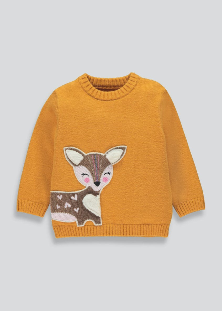 Girls Deer Jumper (9mths-6yrs)