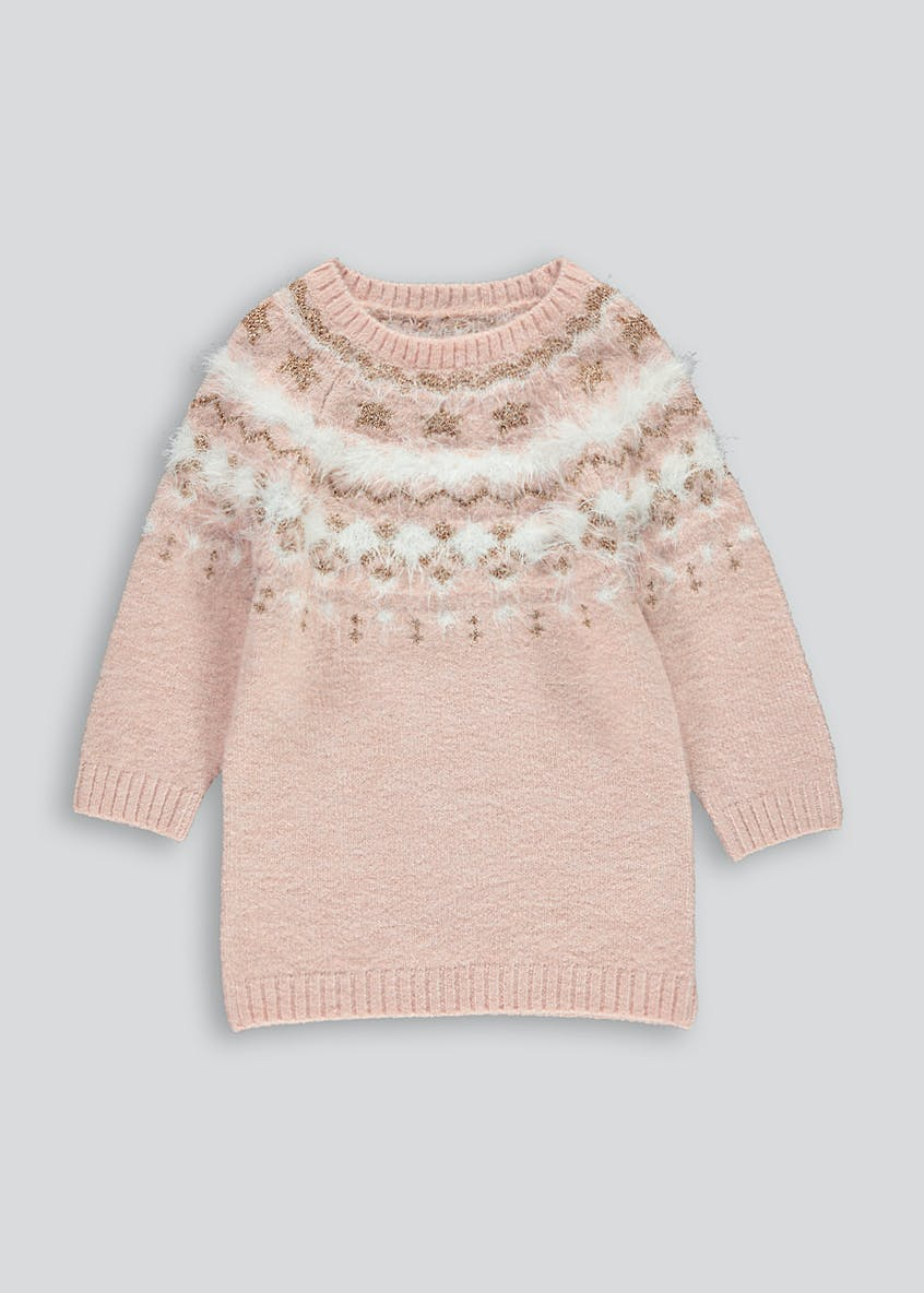 Girls Fairisle Knitted Dress (9mths-6yrs)