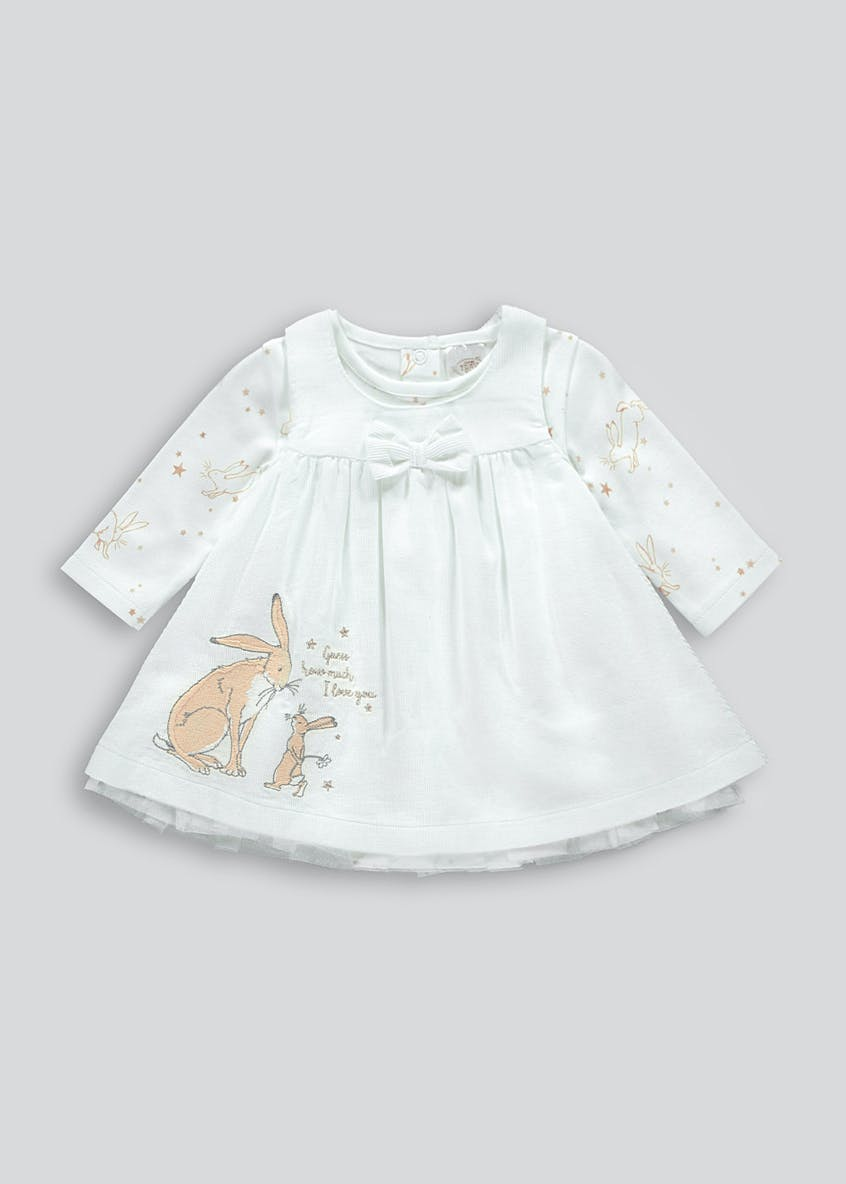 Girls Cream Guess How Much I Love You Dress & Top (Newborn-12mths)