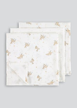 3 Pack Guess How Much I Love You Muslin Cloths