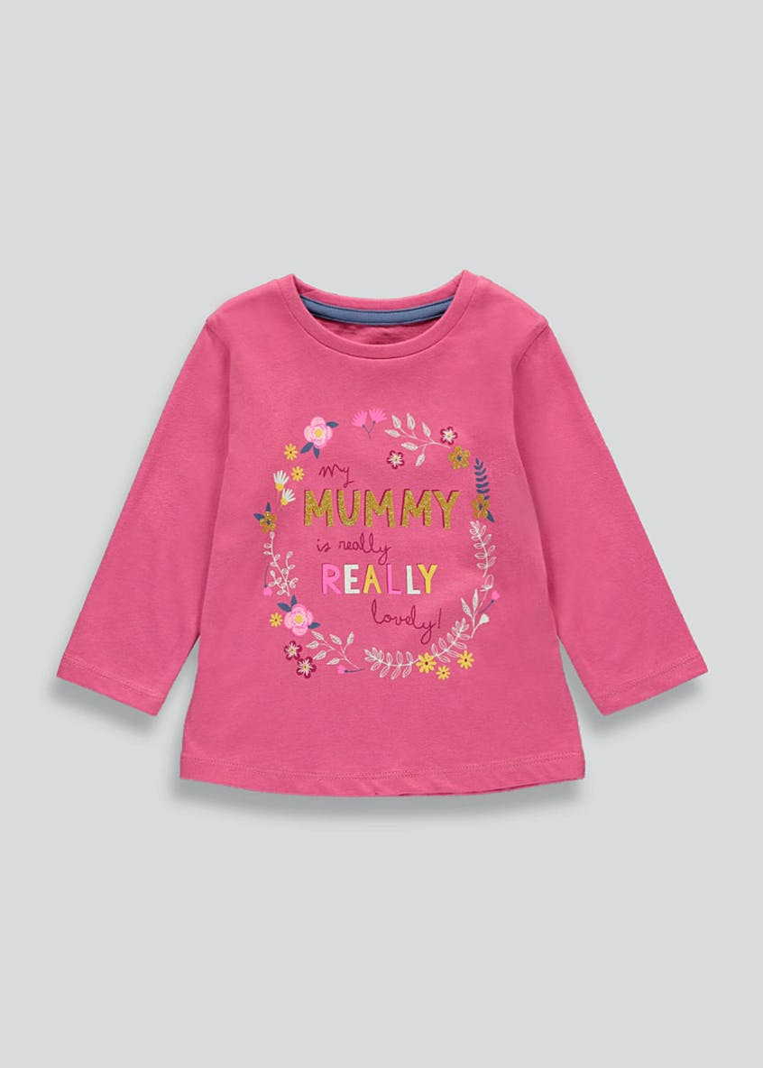 Girls Mummy Slogan T-Shirt (9mths-6yrs)