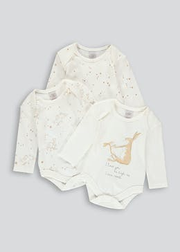 Unisex 3 Pack Guess How Much I Love You Bodysuits (Newborn-9mths)