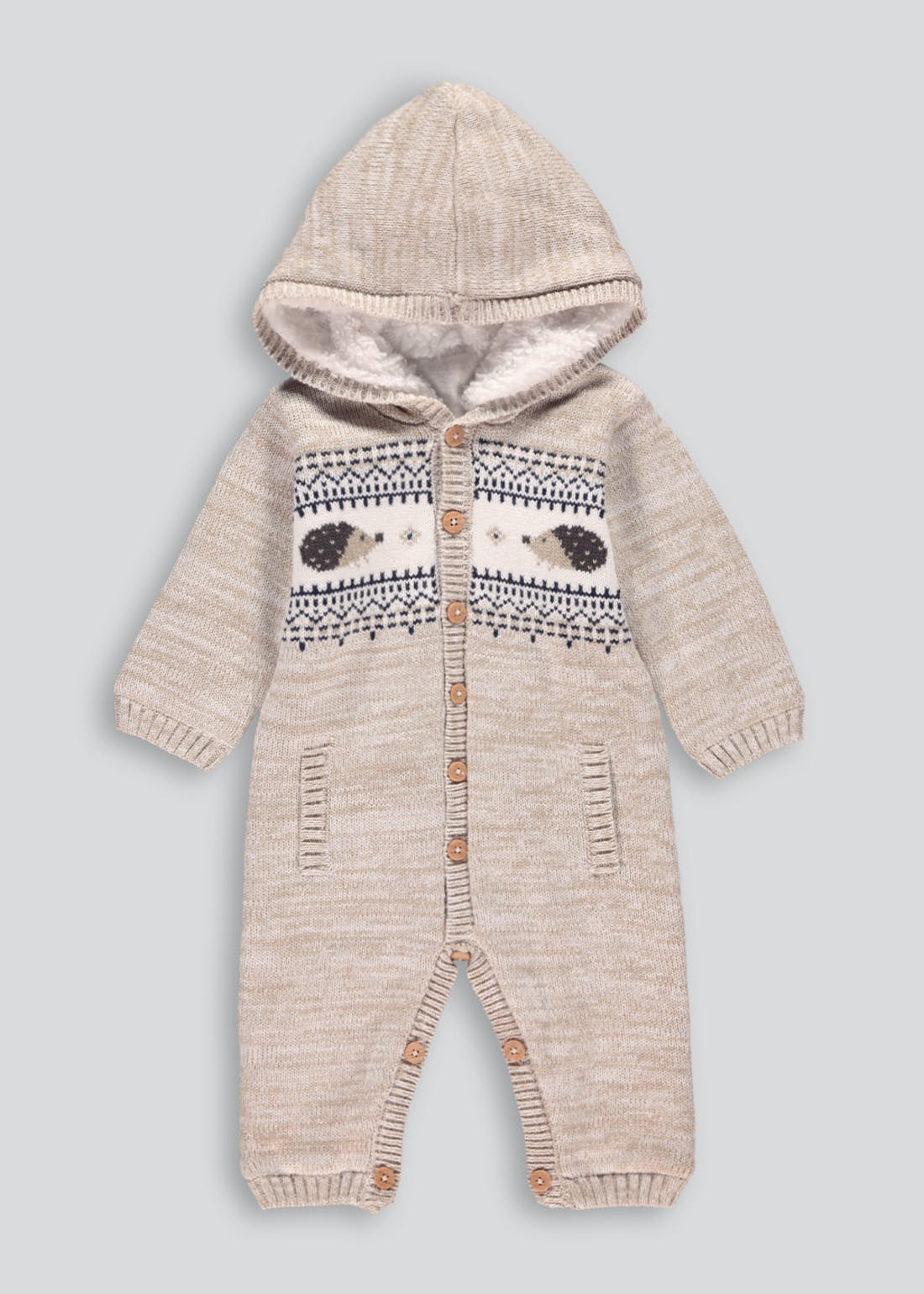 Unisex Knitted Romper (Tiny Baby-18mths)