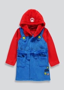 Kids Super Mario Dressing Gown (4-12yrs)