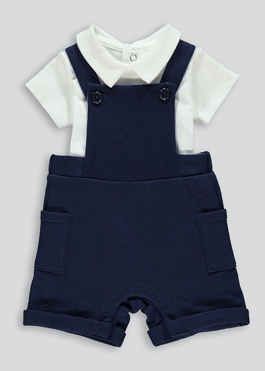 Unisex Dungarees and Bodysuit Set (Tiny Baby-18mths)
