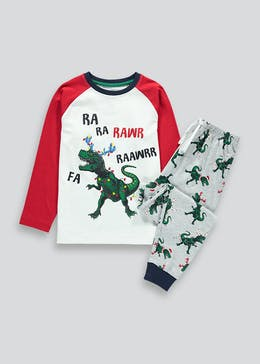 Kids Christmas Dinosaur Pyjama Set (5-13yrs)