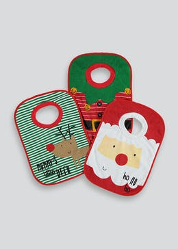 3 Pack Christmas Bibs (One Size)