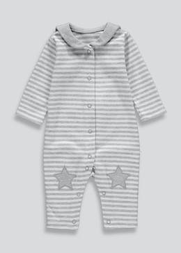 Unisex Stripe Baby Grow (Newborn-18mths)