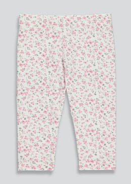 Girls Floral Cropped Leggings (Tiny Baby-18mths)