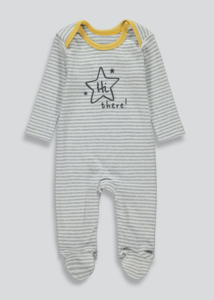 Unisex Slogan Baby Grow (Newborn-18mths)