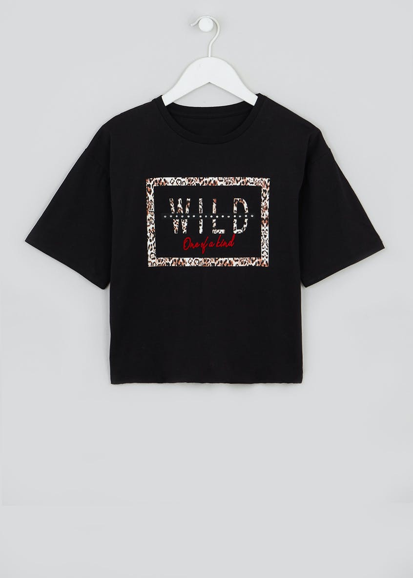 Girls Candy Couture Wild Cropped T-Shirt (9-16yrs)