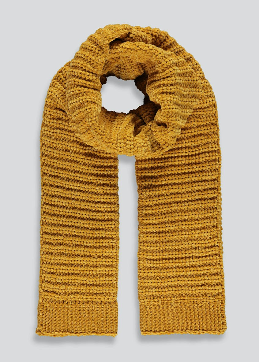 Ribbed Chenille Scarf