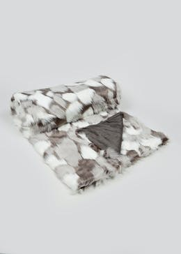 Abstract Faux Fur Throw Blanket