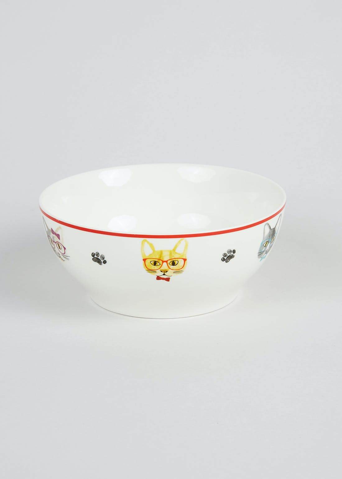 Cat Print Cereal Bowl (16cm)