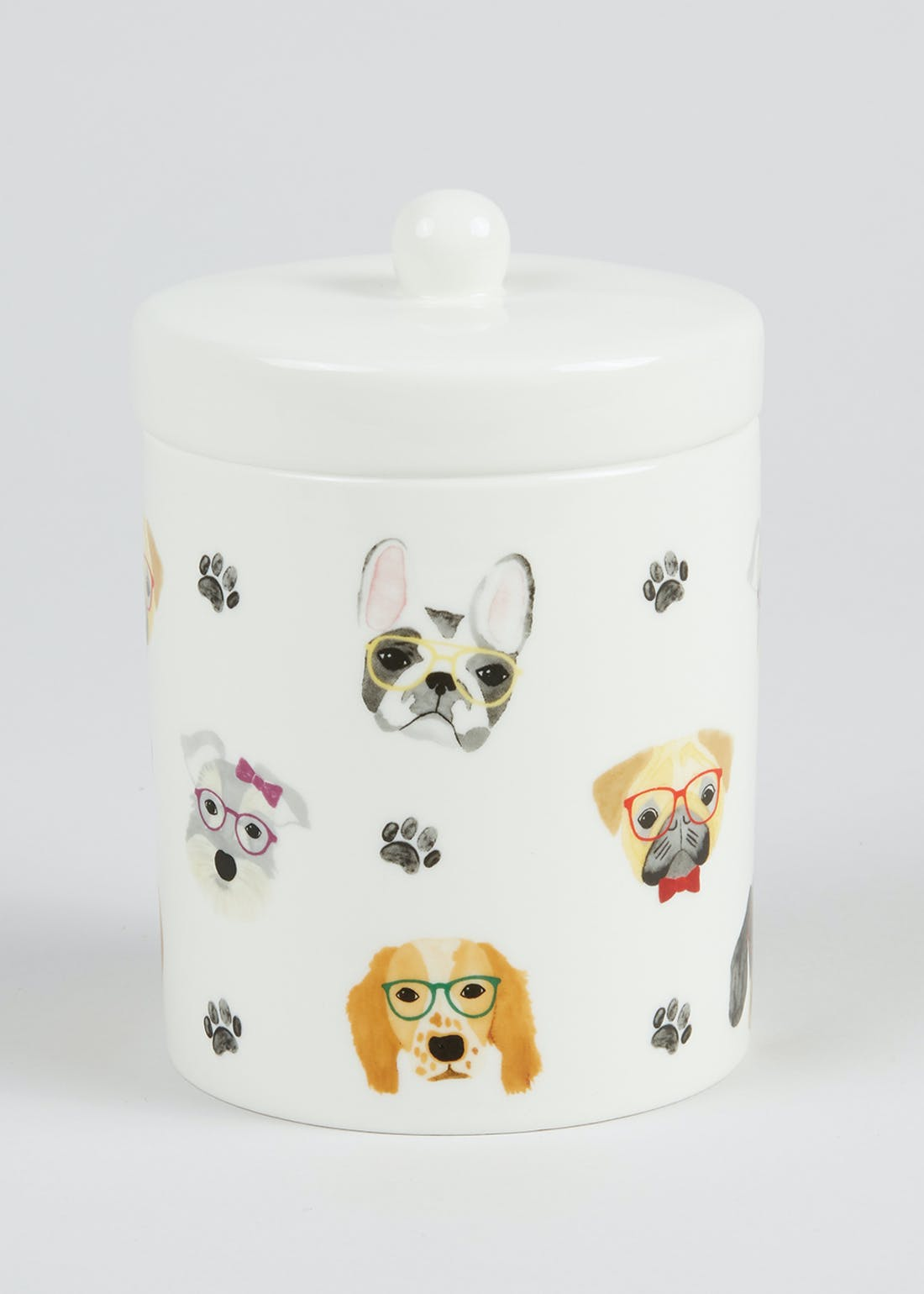 Dog Print Kitchen Canister (12cm x 11cm)