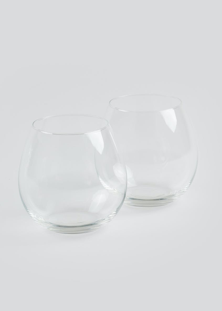 2 Pack Stemless Gin & Tonic Glasses (10.5cm x 7.5cm)