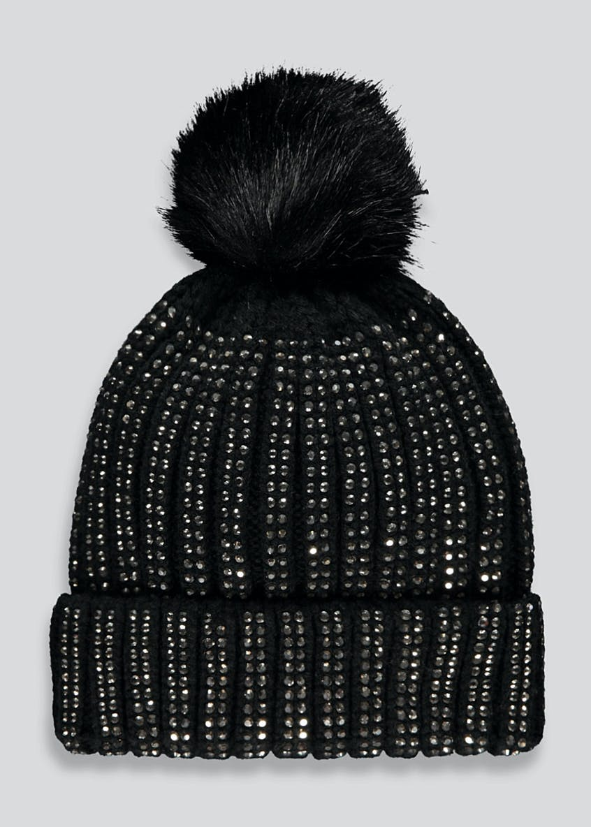Studded Bobble Hat