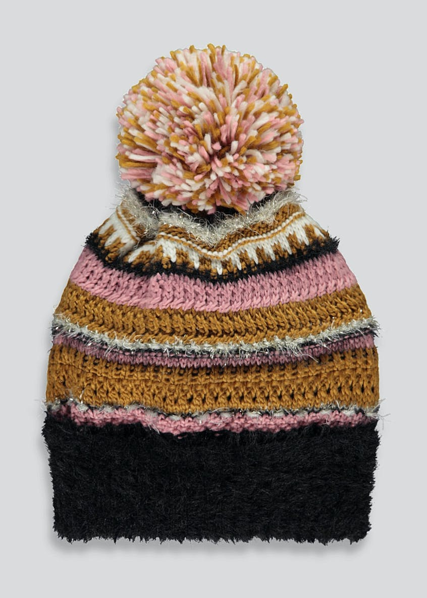 Textured Bobble Hat