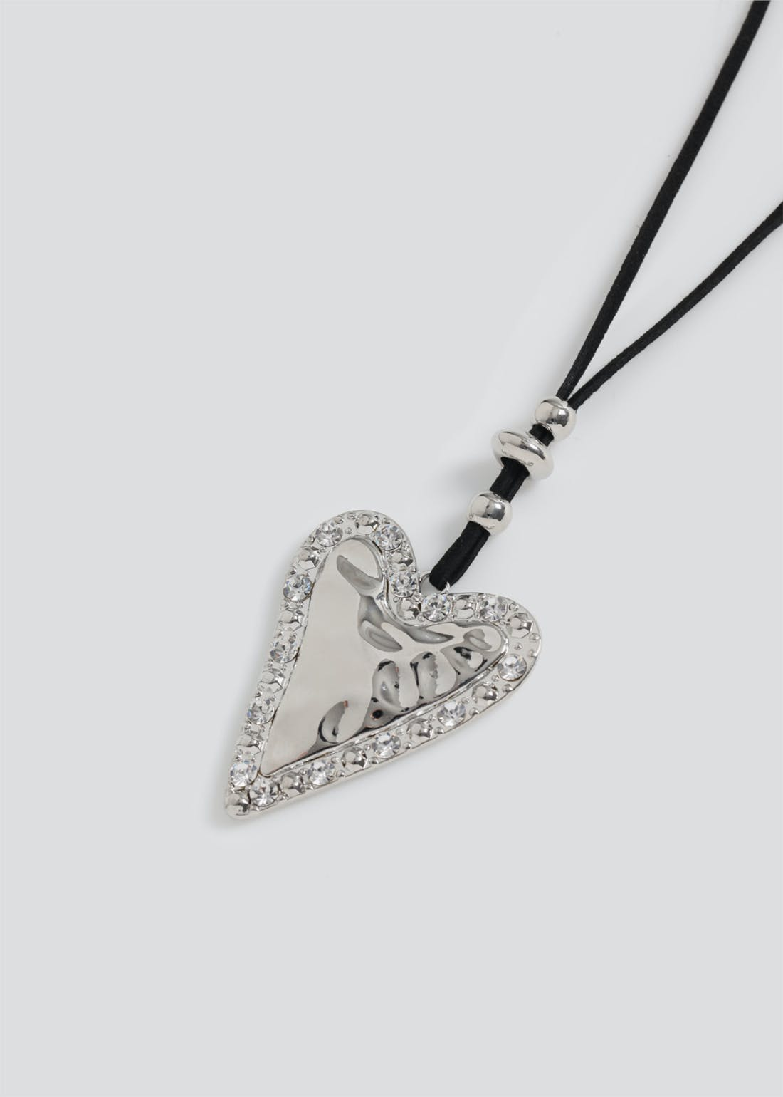 Solid Heart Pendant Necklace