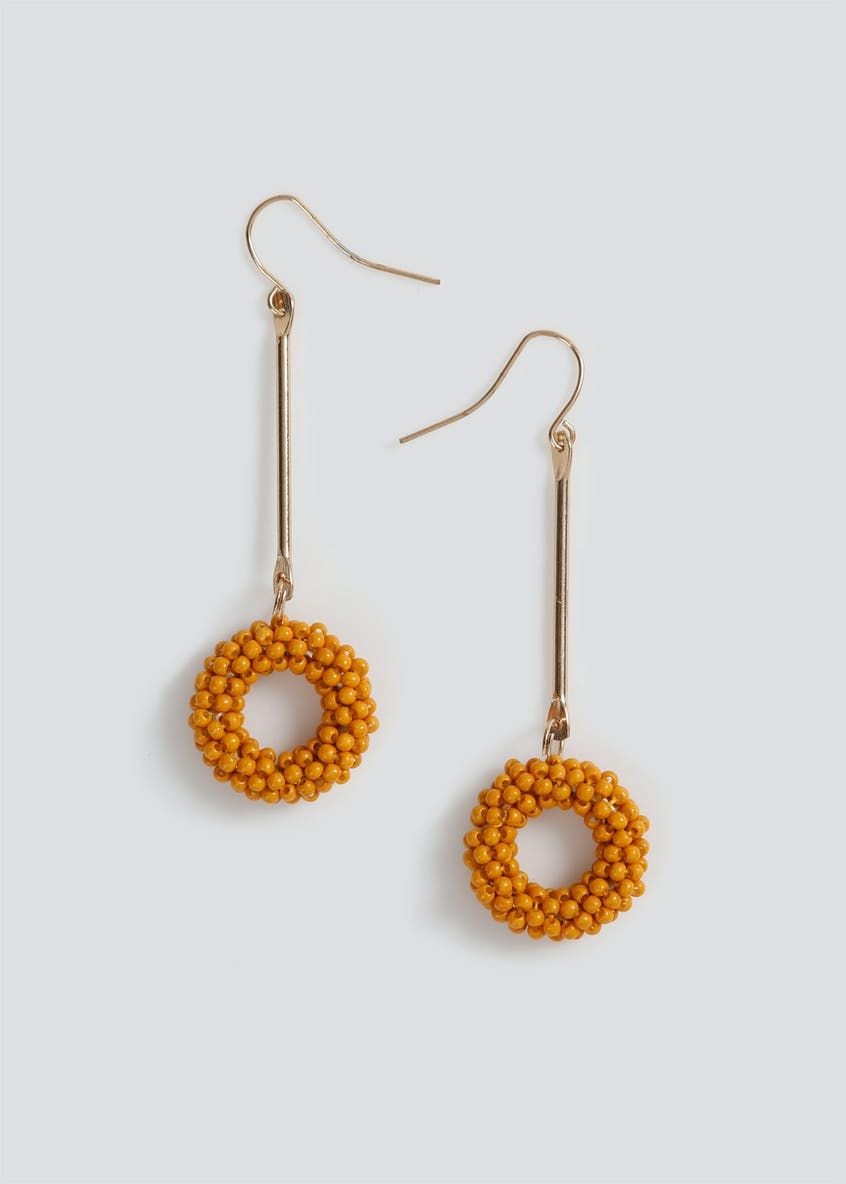 Beaded Stick Drop Earrings